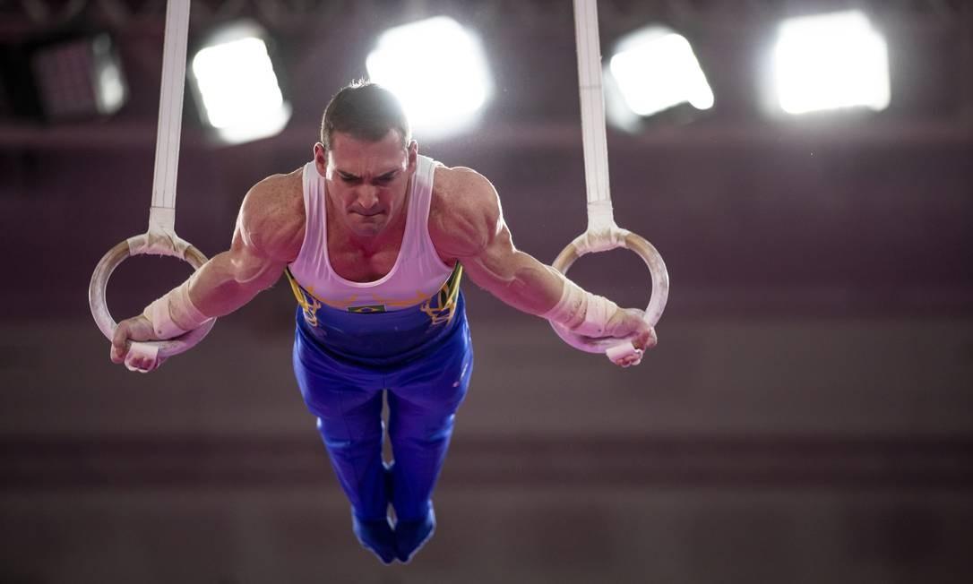 Arthur Zanetti ficou com a medalha de prata nas argolas, prova em que é o atual campeão olímpico Foto: Gabriel Heusi / Gabriel Heusi / Lima 2019