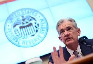 Jerome Powell, presidente do Federal Reserve (Fed), o Banco Central dos EUA Foto: Erin Scott / Reuters