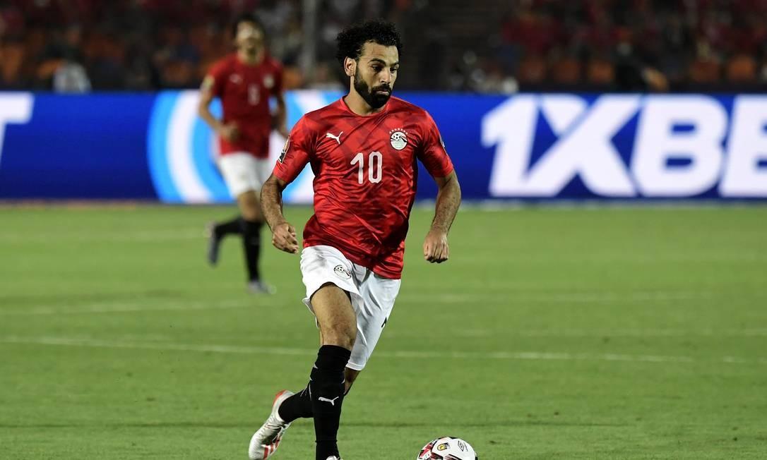 O atacante Salah, Liverpool, concorre ao prêmio Foto: JAVIER SORIANO / AFP