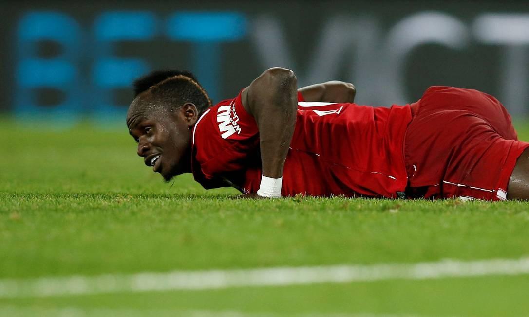 O atacante Sadio Mané, do Liverpool Foto: Andrew Yates / Reuters