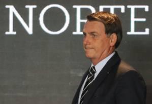 Presidente Jair Bolsonaro participa da cerimônia de assinatura do contrato de Concessão da Ferrovia Norte-Sul em Anápolis Foto: Jorge William / Agência O Globo