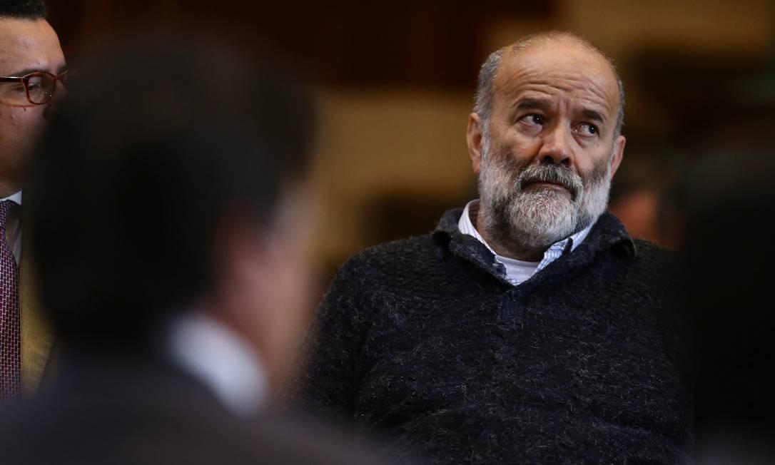 O tesoureiro do PT João Vaccari Neto. Preso em em 15 de abril de 2015, São Paulo, na 12ª fase da Lava-Jato, suspeito de receber dinheiro de propina em esquema de corrupção envolvendo contratos da Petrobras Foto: Geraldo Bubniak / Agência O Globo