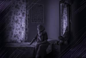 Uma das dez marroquinas que recorreram à justiça espanhola para denunciar assédio e abuso sexual sofridos em uma fazenda na Andaluzia. Levadas para trabalhar na colheita de morangos, elas agora esperam a sentença Foto: MARIA CONTRERAS COLL / NYT
