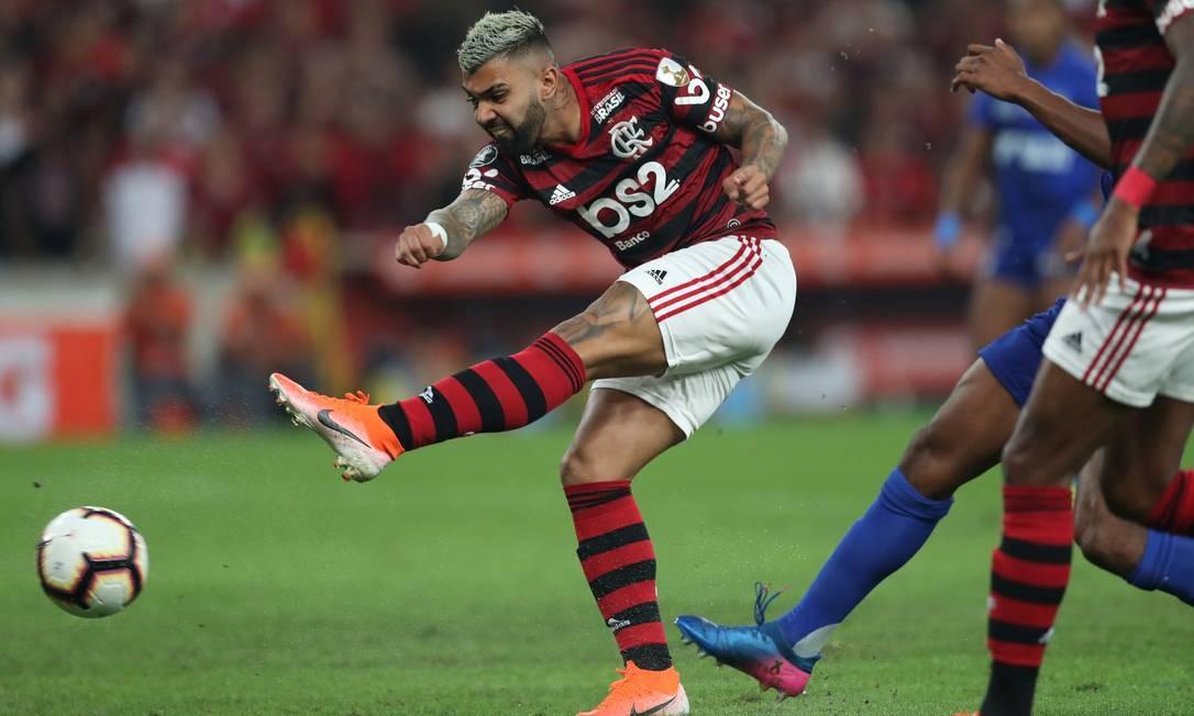 Gabigol foi decisivo para o Flamengo no primeiro tempo Foto: RICARDO MORAES / REUTERS