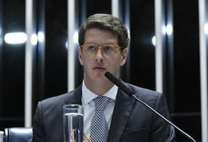 O ministro do Meio Ambiente, Ricardo Salles, admitiu que dados do Deter estão corretos, mas criticou comparação entre índices registrados a cada mês Foto: Geraldo Magela / Agência Senado/6-6-2019