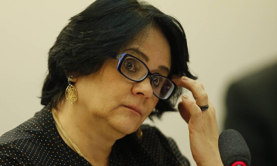 Ministra Damares Alves na Comissão de Minorias e Direitos Humanos da Câmara dos Deputados Foto: Jorge William 22/05/2019 / Agência O Globo