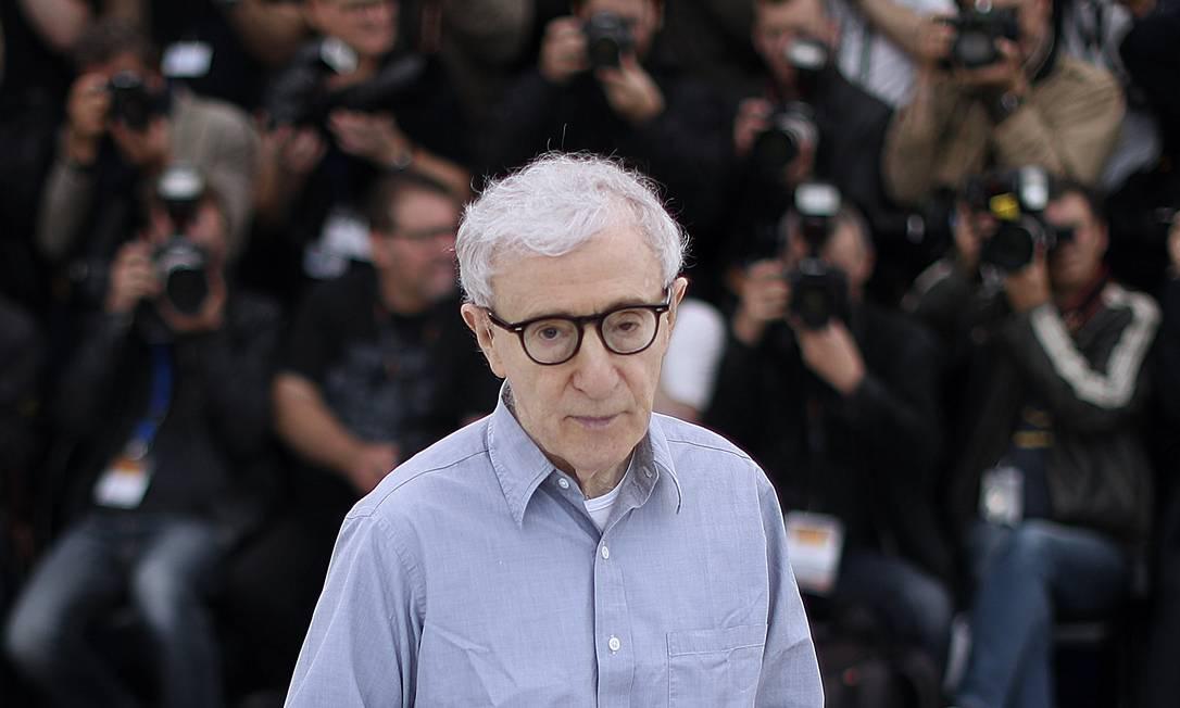 Woody Allen durante o Festival de Cannes, em 2016 Foto: VALERY HACHE / AFP