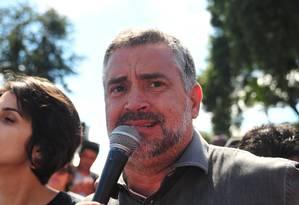 O deputado federal Paulo Pimenta, durante ato em Curitiba Foto: Ernani Ogata / Codigo 19 09-04-2018 / Agência O Globo