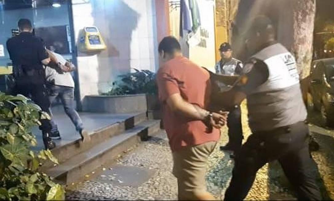 Quatro pessoas foram presas por furto, entre outros crimes, no Centro do Rio Foto: Divulgação / Operação Lapa Presente