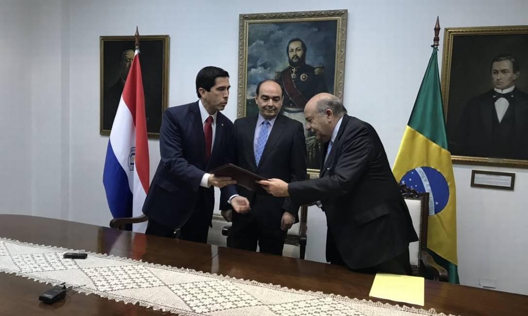 Paraguai cancela oficialmente acordo com Brasil que provocou ameaça de impeachment em Assunção Foto: Chancelaria do Paraguai