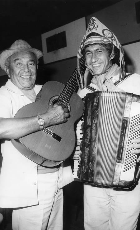 Luiz Gonzaga e o cantor Fagner em registro de 1982. Foto: Chico Jorge / Divulgação