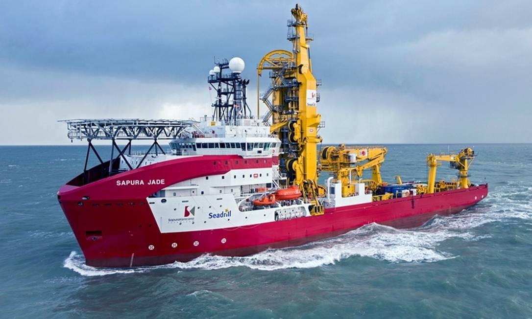 Jade, um dos seis navios da Sapura, uma das melhores empresas para trabalhar no Rio Foto: Divulgação/Sapura