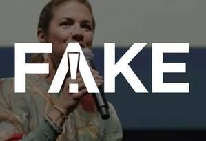 É #FAKE que mulher do primeiro-ministro canadense fez piada com indicação de Eduardo Bolsonaro para embaixada Foto: Reprodução