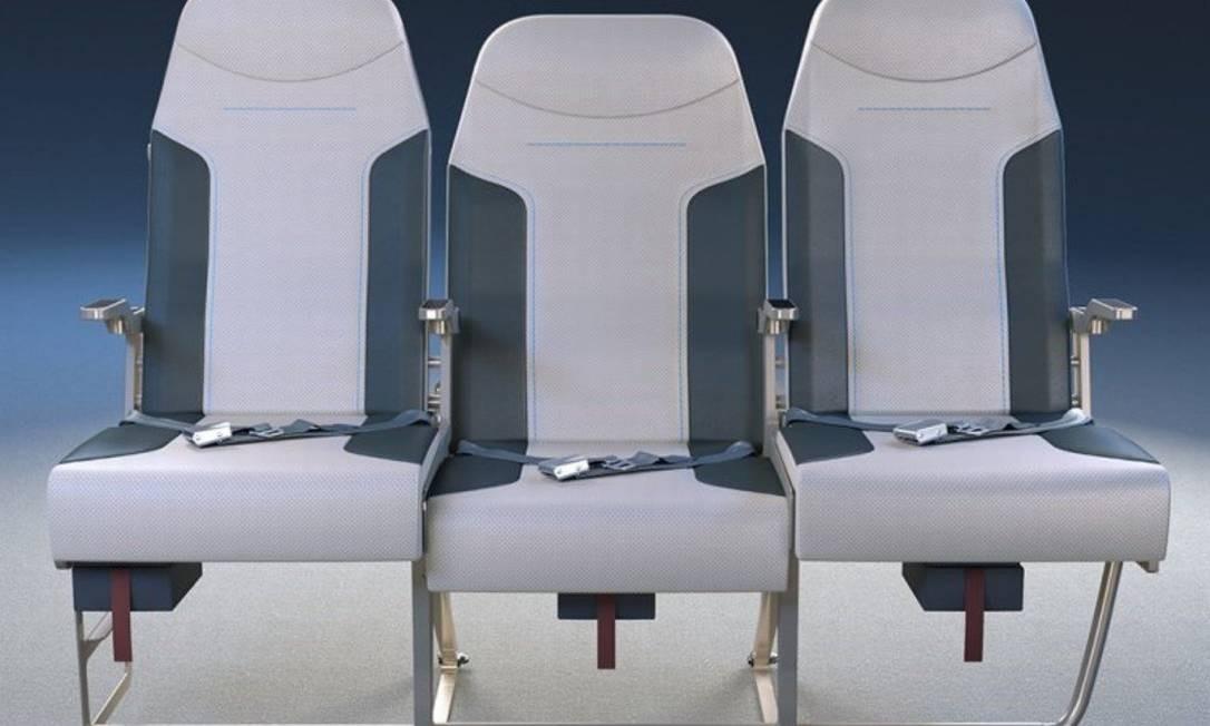 Projeto da nova poltrona do meio da Molon Labe Seating: mais baixa e larga, com desenho diferenciado de apoio para o braço Foto: Reprodução