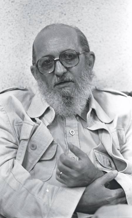 Paulo Freire é a terceira pessoa mais citada em todo o mundo no campo de Humanidades, de acordo com Google Scholar Foto: Antônio Nery / Agência O Globo