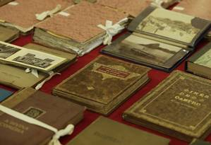 Lote de edições raras na Biblioteca Nacional, 2018 Foto: Gabriel de Paiva / Agência O Globo
