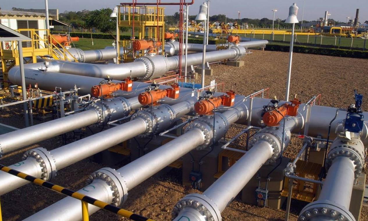 A Petrobra firmou acordo com o Cade para sair do setor de transporte e distribuição de gás natural. A companhia deve vender sua fatia no Gasoduto Brasil-Bolívia (foto) Foto: Diego Giudice / Bloomberg News