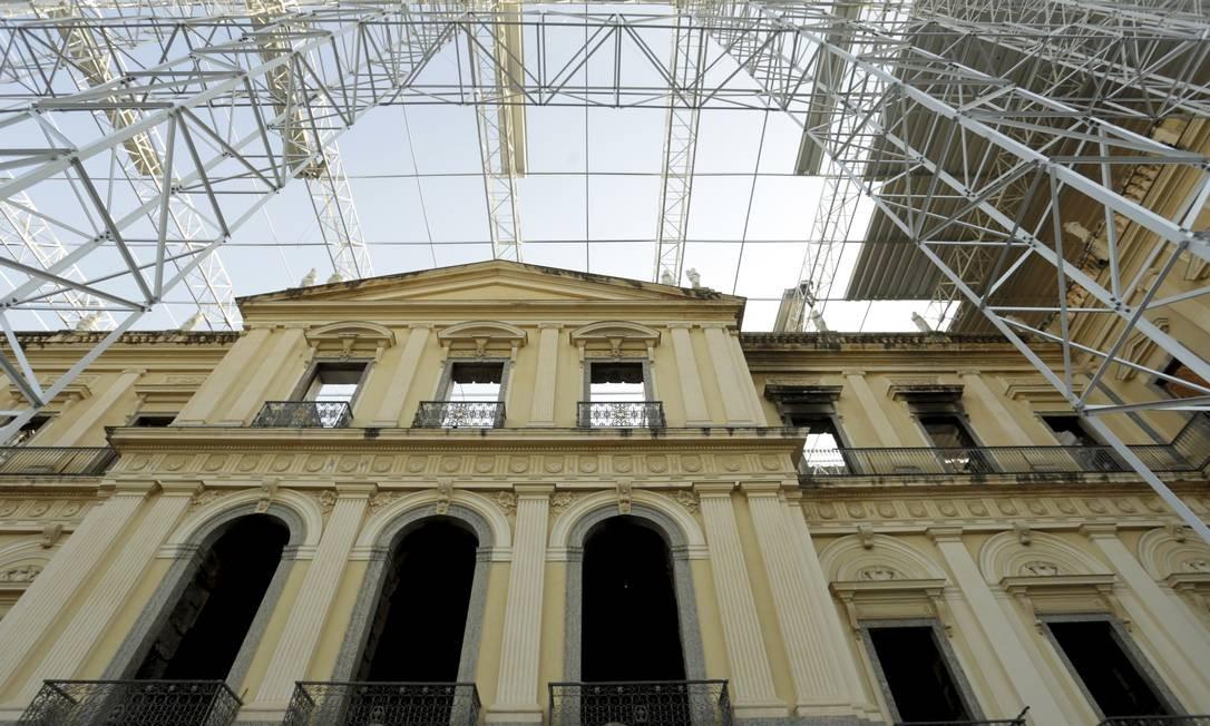 Restauração e recuperação do Museu Nacional após o incêndio de setembro de 2018. Foto de 29/05/2019 Foto: Marcelo Theobald / Agência O Globo