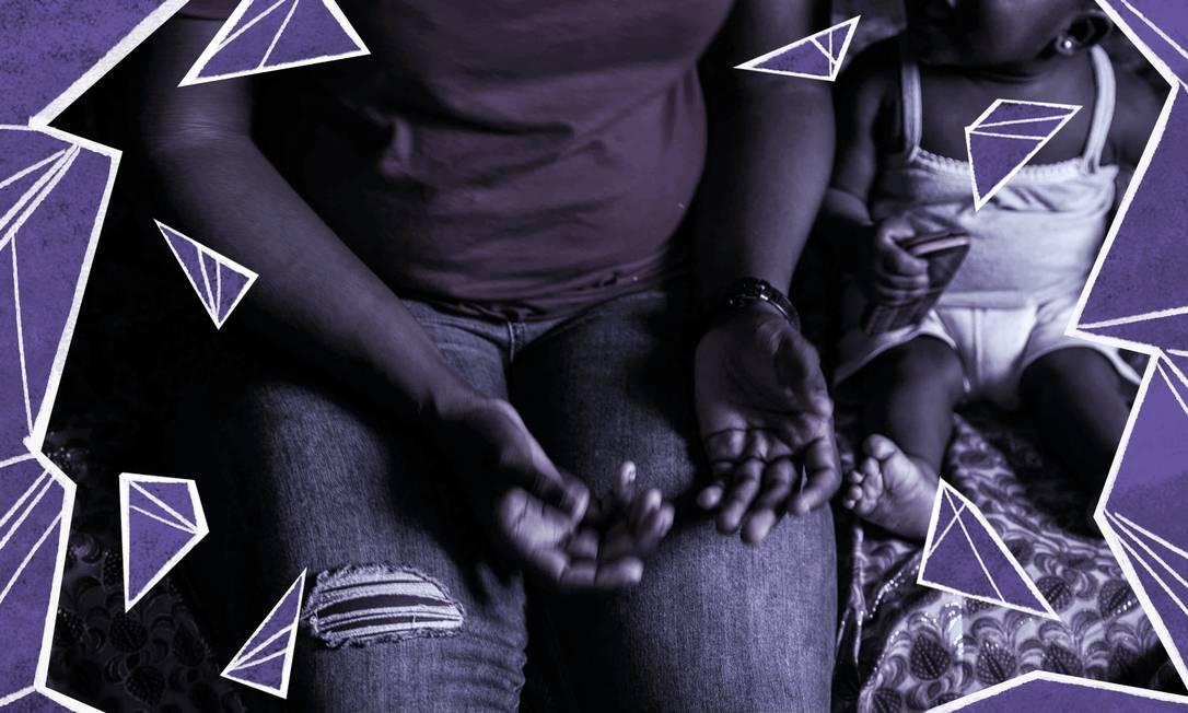 Vítimas de estupros na Líbia lutam para criar seus filhos após abusos Foto: Fati Abubakar / AFP / Arte de Clara Brandão sobre foto AFP