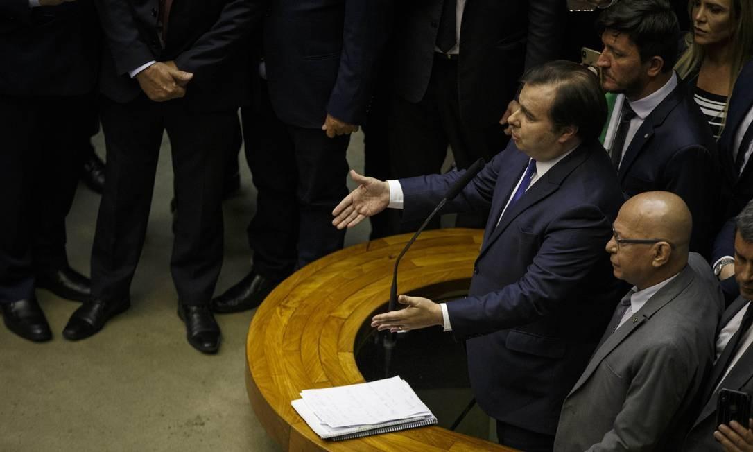 Votação da Reforma da Previdência na Câmara Foto: Daniel Marenco / Agência O Globo