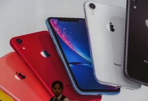 iPhones podem ter queda nas vendas com guerra comercial. Foto: INDRANIL MUKHERJEE / AFP