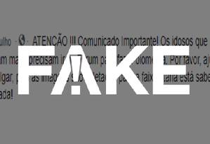É #FAKE que idosos com voto facultativo que não fizerem biometria terão CPF cancelado e benefícios bloqueados Foto: Reprodução