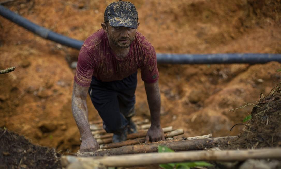 Cunha, 43 anos, já garimpou na Guiana e na Venezuela Foto: Daniel Marenco / Agência O Globo