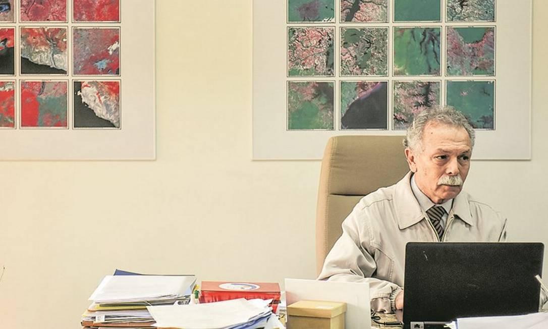 Ricardo Galvão, exonerado do Inpe: 'Mesmo que ele viesse a provar que dados estavam certos, não tinha mais clima', diz Bolsonaro Foto: Lucas Lacaz Ruiz/A13/Agência O Globo