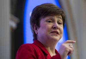 Kristalina Georgieva: nomeação formal da nova diretora-gerente do Fundo só acontecerá em outono Foto: JEWEL SAMAD / AFP