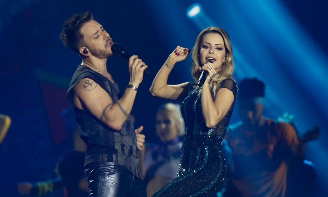 Junior e Sandy no palco da ArenaJeunesse, no Rio de Janeiro, na última sexta-feira 2 Foto: ROBERTO MOREYRA / -