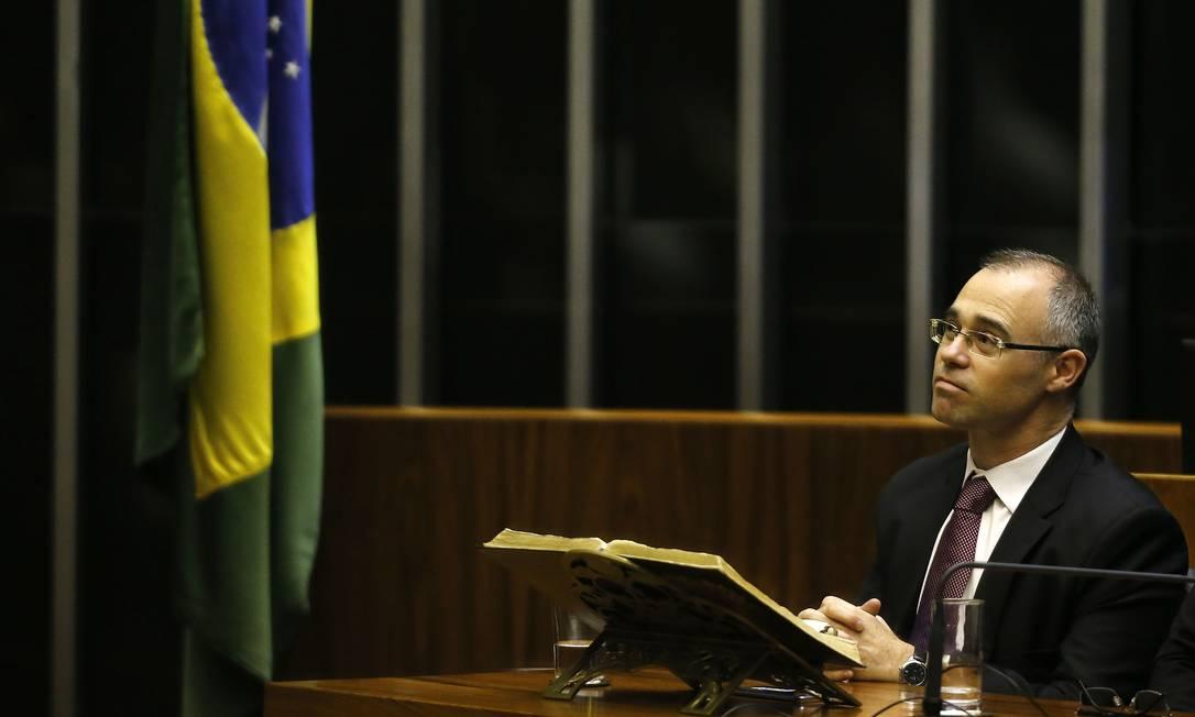 Evangélico: André Luiz Mendonça, advogado-geral da União, diz que gostaria de ver primeiro ministro do STF deficiente Foto: Jorge William / Agência O Globo