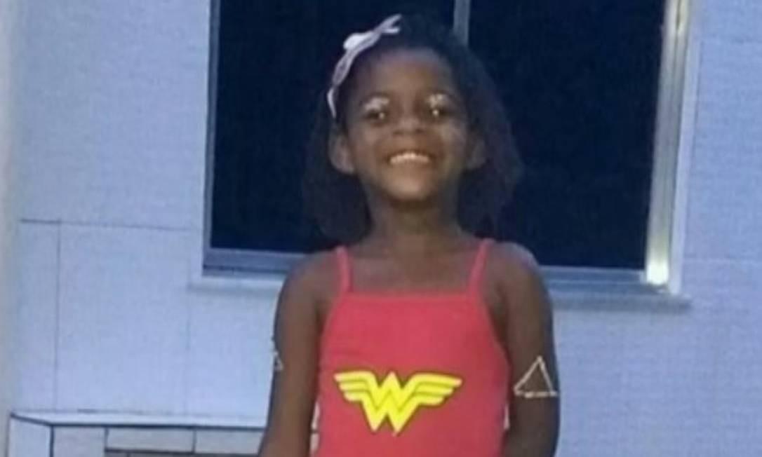 Mel Rhayane Ribeiro de Jesus, de 6 anos, foi morta após ser espancada em casa Foto: TV Globo / Reprodução