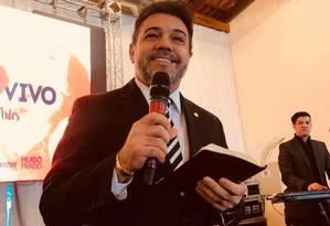 O deputado pastor Marco Feliciano em foto tirada no início de julho, depois do tratamento odontológico reembolsado pela Câmara Foto: Reprodução / Redes sociais