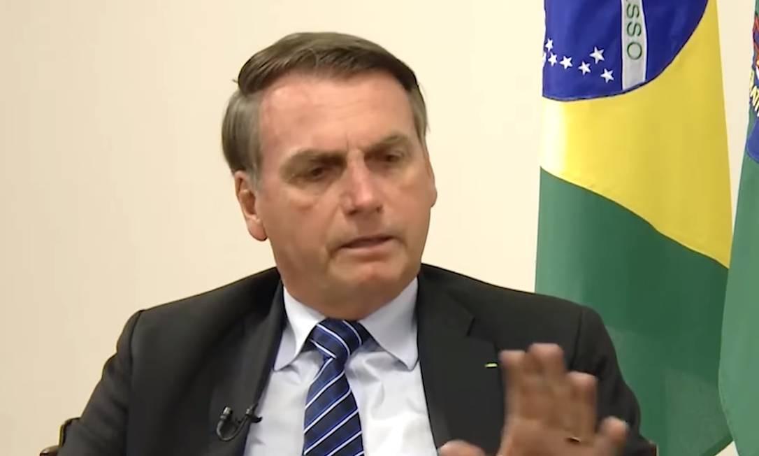 O presidente Jair Bolsonaro deu entrevista para a jornalista Leda Nagle Foto: Reprodução YouTube