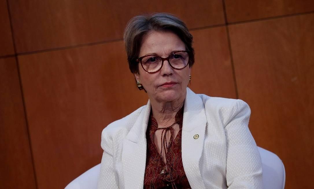 A ministra Tereza Cristina: neutralidade seria o melhor caminho. Foto: Adriano Machado / REUTERS