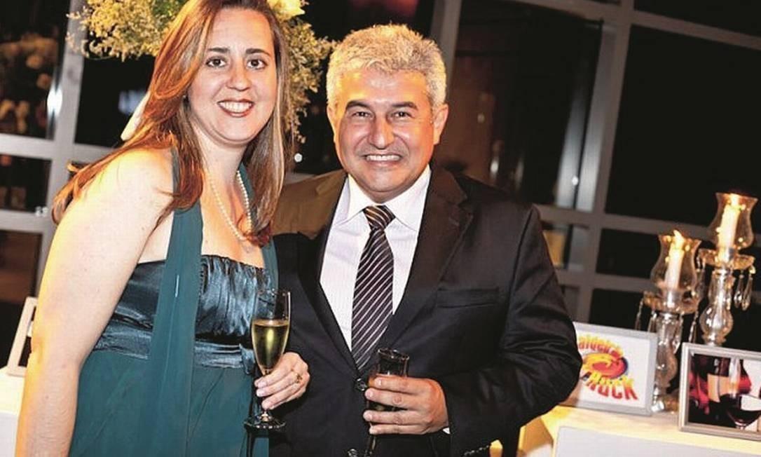 Marcos Pontes e Christiane Correa, sócia e assessora Foto: Daniel Marenco/Agência O Globo
