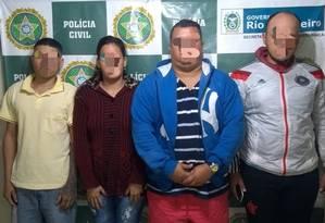 Polícia prendeu quatro acusados de integrar milícia em Belford Roxo Foto: Reprodução