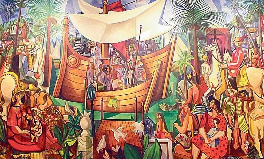 Parte do quadro 'Navio negreiro', de Di Cavalcanti: obra estava exposta no Rio desde 1993 Foto: Divulgação
