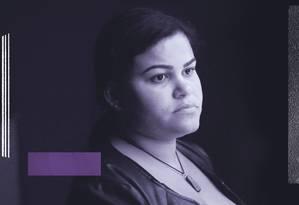 Rebeca Mendes trabalha para fundar uma associação cujo objetivo é levar mulheres que queiram abortar até a Colômbia, país com normas mais amplas do que as do Brasil Foto: Arte sobre foto de Marcos Alves/01-08-2018