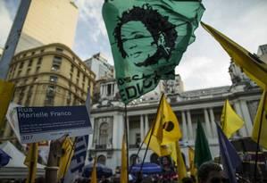 A cobertura da morte de Marielle Franco rendeu uma indicação na categoria notícia Foto: Guito Moreto / Agência O Globo