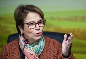 A ministra da Agricultura, Tereza Cristina. Foto: EVARISTO SA / AFP