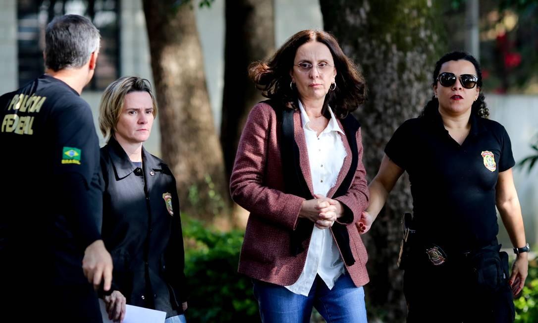 A irmã do senador Aécio Neves (PSDB-MG), Andrea Neves, foi presa em Nova Lima, na Região Metropolitana de Belo Horizonte, em 18 de maio de 2017, sob suspeita de intermediar propina da JBS para o irmão Foto: Cristiane Mattos / Reuters