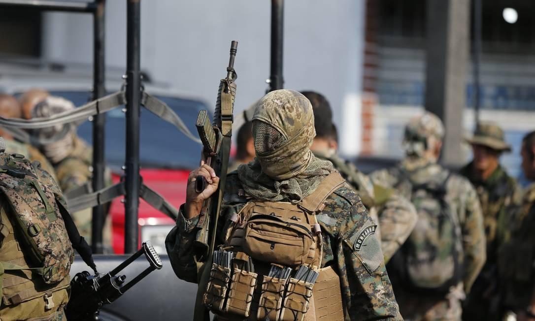 Operação da Polícia Militar na Cidade de Deus Foto: Pablo Jacob / Pablo Jacob