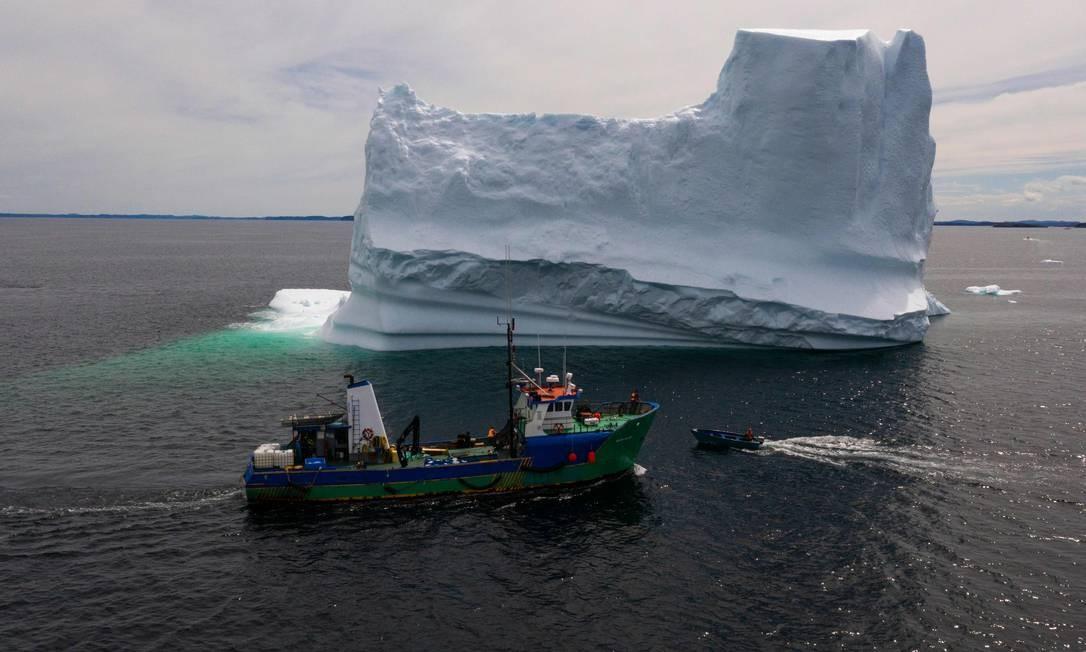 Os caçadores de iceberg querem atingir o mercado de alimentos e produtos saudáveis Foto: JOHANNES EISELE / AFP