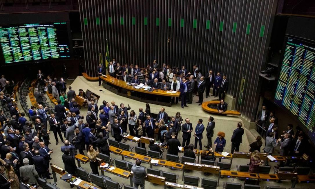 A Câmara dos Deputados vota, nesta 4ª, destaques do texto-base da reforma da Previdência Foto: Daniel Marenco / Agência O Globo
