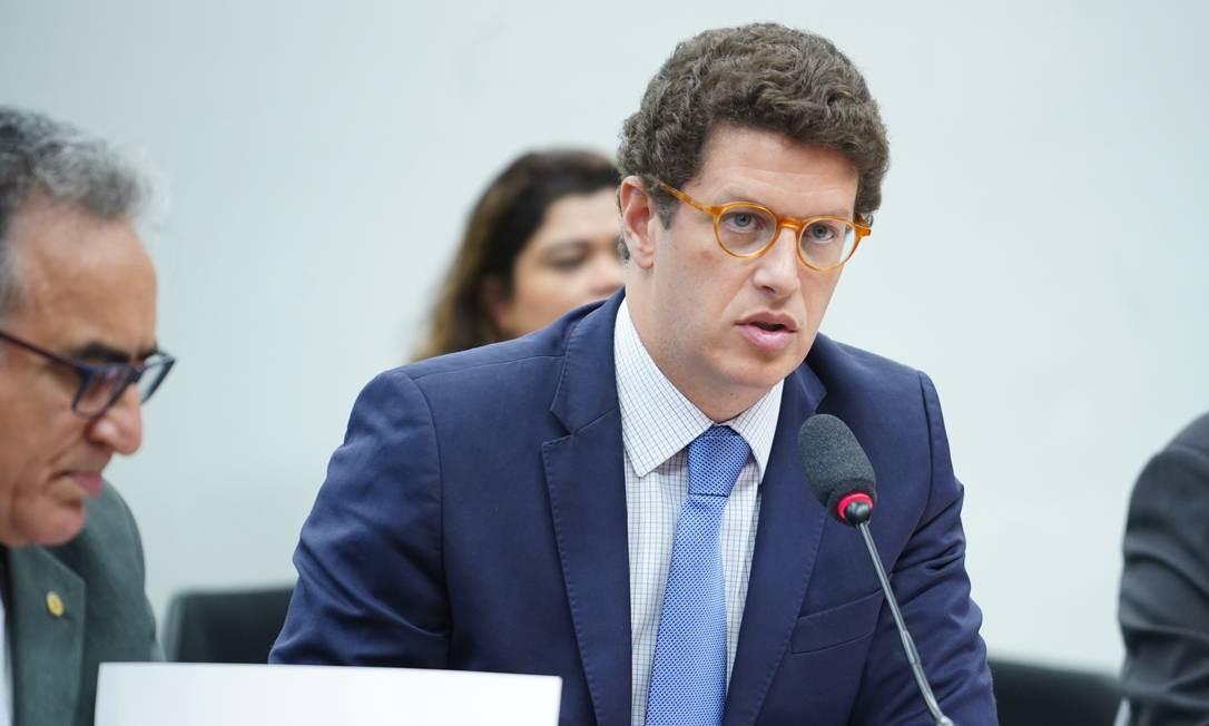O ministro do Meio Ambiente, Ricardo Salles, em audiência pública na Câmara dos Deputados Foto: Pablo Valadares / Câmara dos Deputados