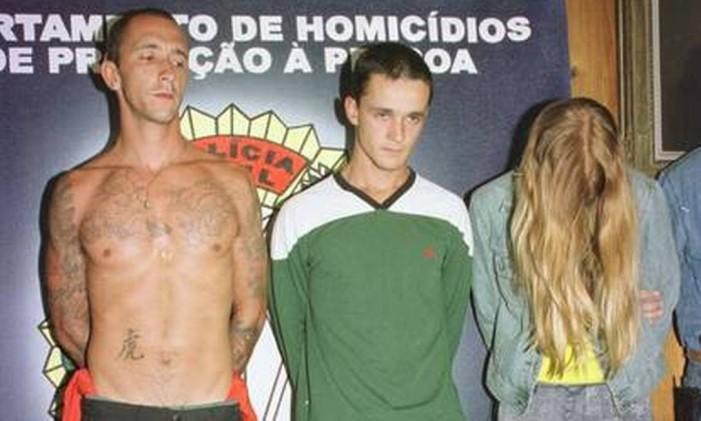 Os irmãos Cravinho e Suzane von Richtofen Foto: Agência O Globo