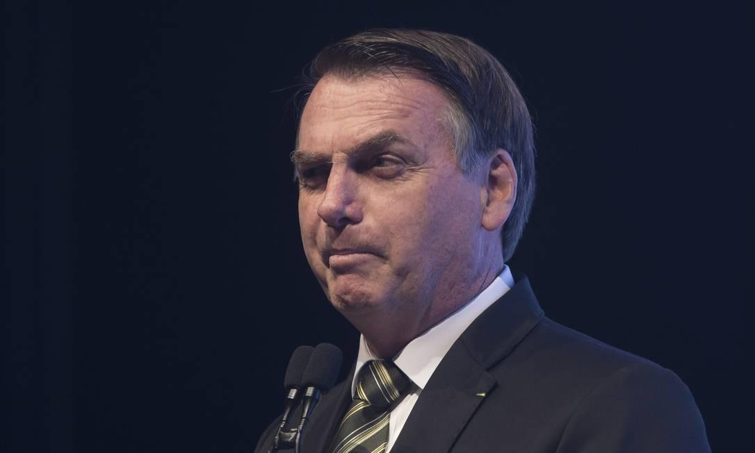 Jair Bolsonaro participou de evento do setor automotivo em São Paulo na terça-feira Foto: Edilson Dantas / Agência O Globo