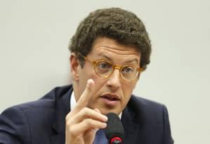 O ministro do Meio Ambiente, Ricardo Salles, deverá falar sobre o aumento no desmatamento da Amazônia Foto: Jorge William / Agência O Globo