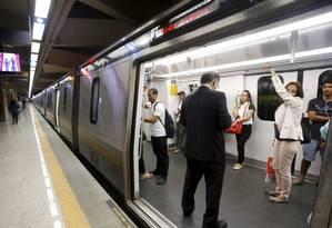 Linha 4 opera desde 2016, mas estação da Gávea, na Zona Sul, não foi concluída Foto: Domingos Peixoto / Agência O Globo
